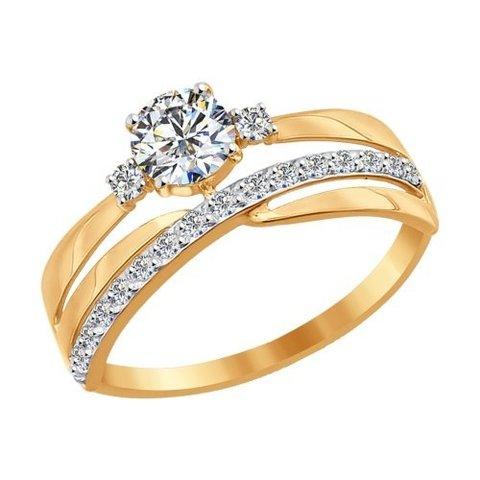 016918 - Кольцо из золота с фианитами