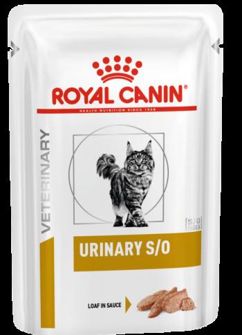 Влажные корма Пауч для кошек, Royal Canin Urinary S/O Feline With Chicken Loaf, при мочекаменной болезни паштет_кошки.png