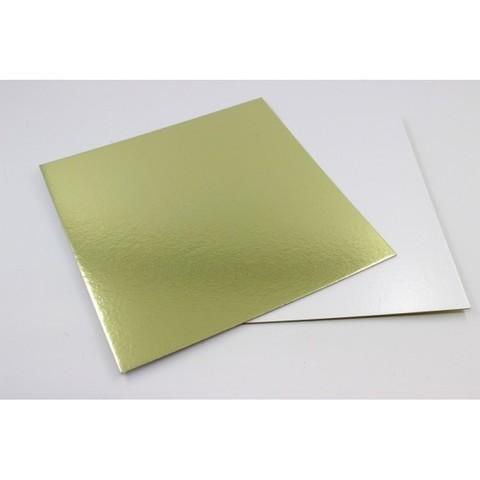 Подложка 26*26 (1,5мм) золото/белый квадрат