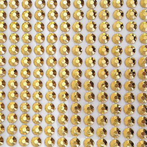 Стразы золотые 5 мм 195 шт