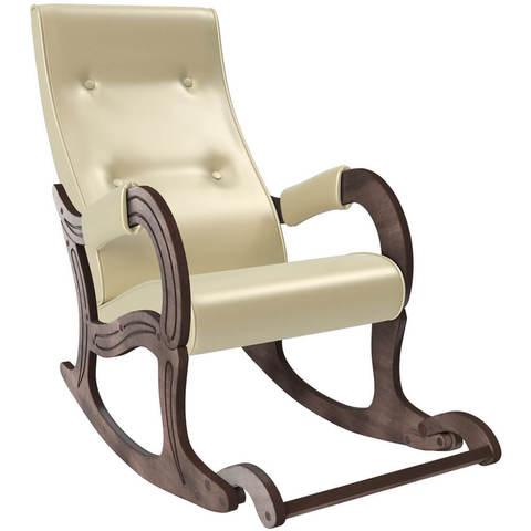 Кресло-качалка с подножкой модель 707 экокожа