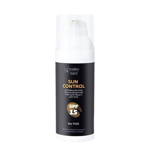 Солнцезащитный крем для лица и тела Sun Control SPF15 50 мл   mi&ko