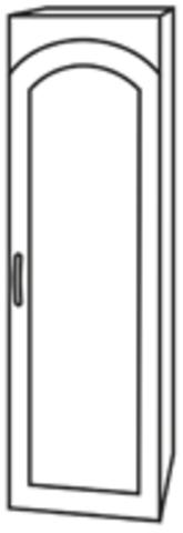 Чили ШВПС 400 шкаф-пенал верхний со стеклом