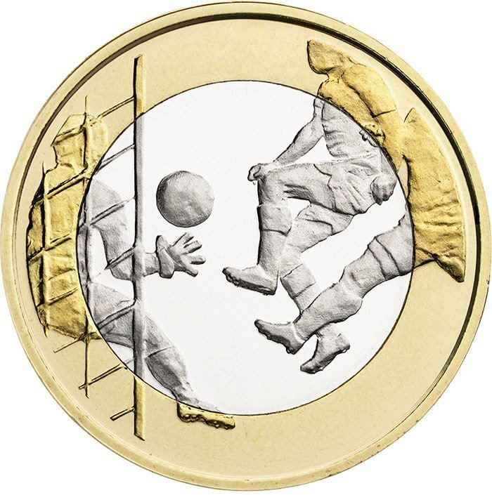 5 евро - Футбол. Финляндия. 2016 год