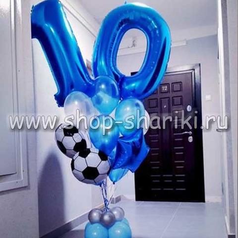 Фонтан из шаров для мальчика на 10 лет