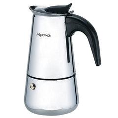 Гейзерная кофеварка ALPENKOK 220 мл на 4 чашки AK-801