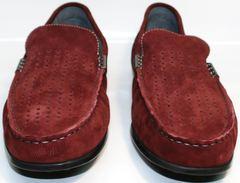 Мокасины мужские красные IKOC 1555-3 Red.