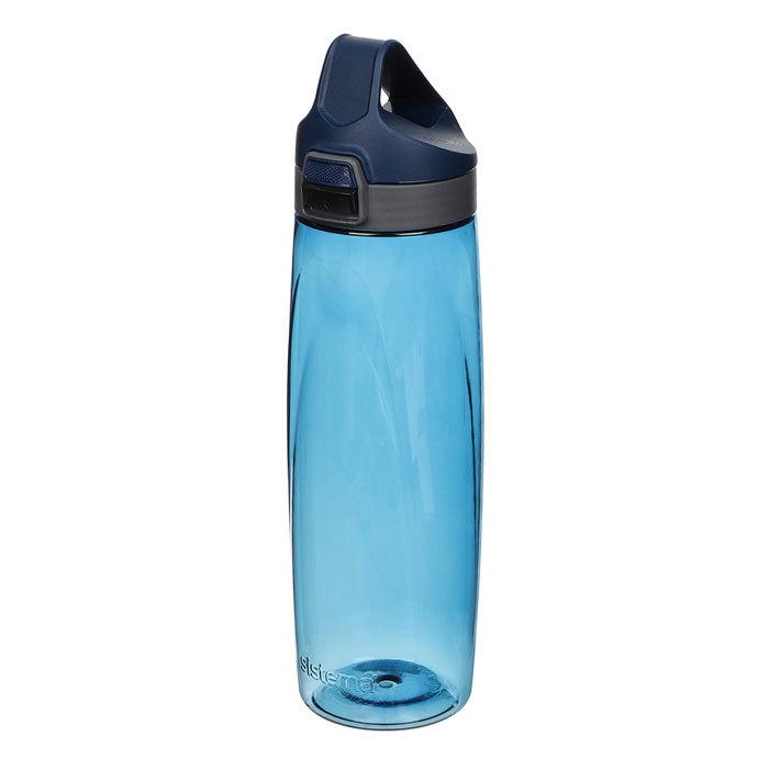 "Бутылка для воды с кнопкой Sistema ""Hydrate"", Тритан, 900 мл, цвет Синий"