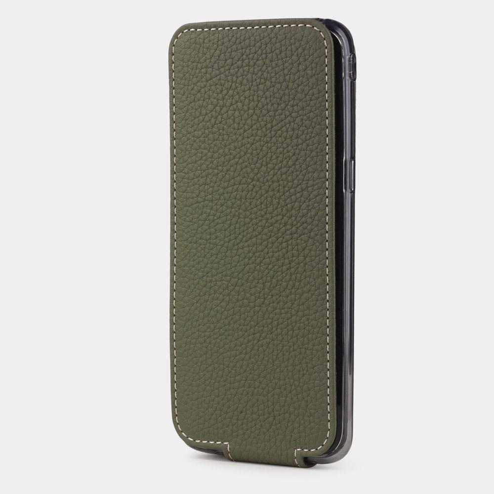 Чехол для Samsung Galaxy S8 из натуральной кожи теленка, зеленого цвета