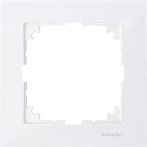 Рамка на 1 пост. Цвет Полярный белый. Merten. M-Pure System M. MTN4010-3619
