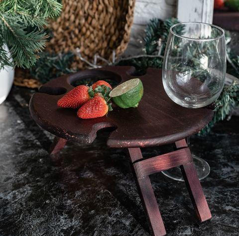 Складной столик для вина, темный