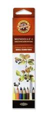 Набор акварельных карандашей MONDELUZ FRUIT 6 цветов в картонной коробке