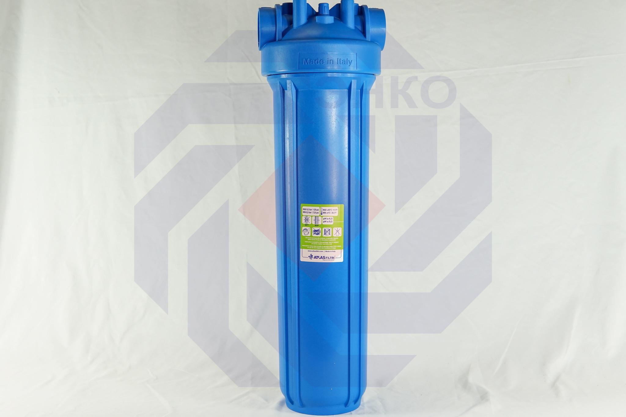 Корпус фильтра одинарный ATLAS DP BIG 20 MONO IN AB 1½