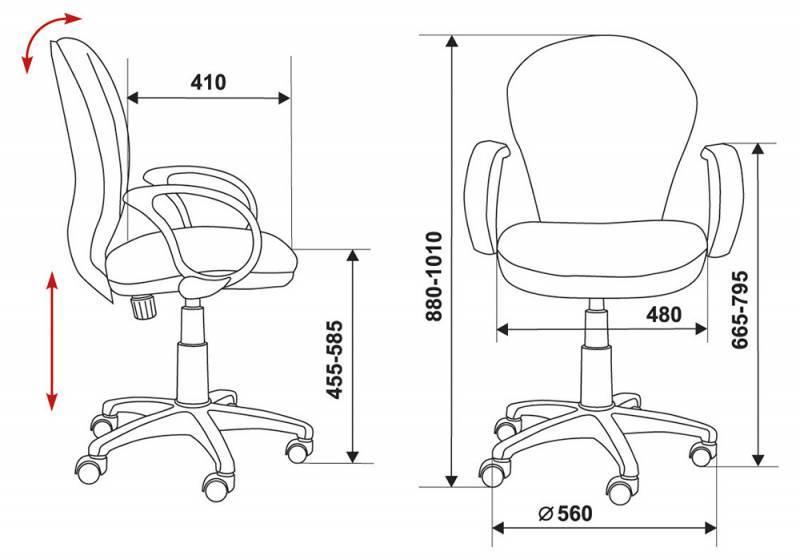 Кресло для персонала БЮРОКРАТ CH-B687AXSN