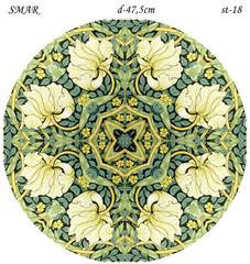 Эскиз для росписи, Круг диаметр-47,5см, SMAR-st-18