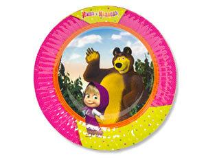 Тарелка Маша и Медведь 17см 6шт