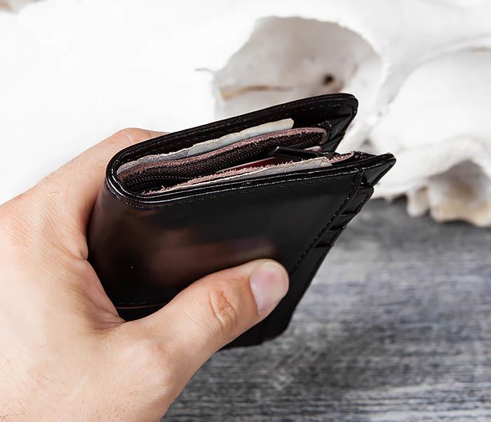 WL297-1 Кожаный кошелек с футляром для карточек фото 07