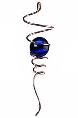 Спиральный хвостик медный с голубым шаром (Iron Stop)