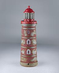 Маяк-подсвечник Мохни с потайной копилкой, 32х10,5 см, керамика, Литва
