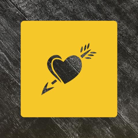 Трафарет любовь №36 Сердце со стрелой