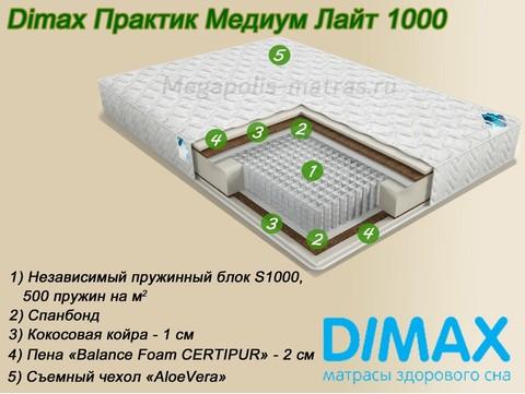 Матрас Димакс Практик Медиум Лайт 1000 на Мегаполис-матрас