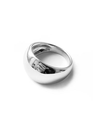 Серебряное дутое широкое кольцо