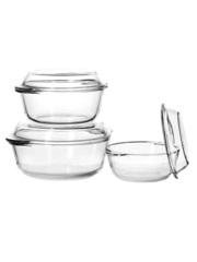 Набор из 3-х кастрюль с крышками 2,1 / 1,45 / 0,84 литра Borcam 159021 набор стеклянной жаропрочной посуды для запекания
