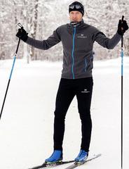 Элитный утеплённый лыжный костюм Nordski Elite Pro Grey-Black мужской 2019