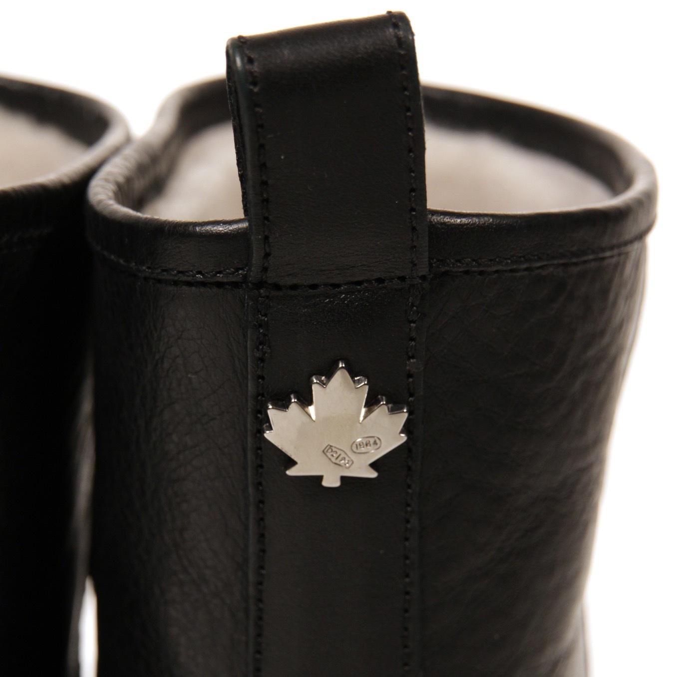 Сапоги кожаные с мехом DSQUARED2