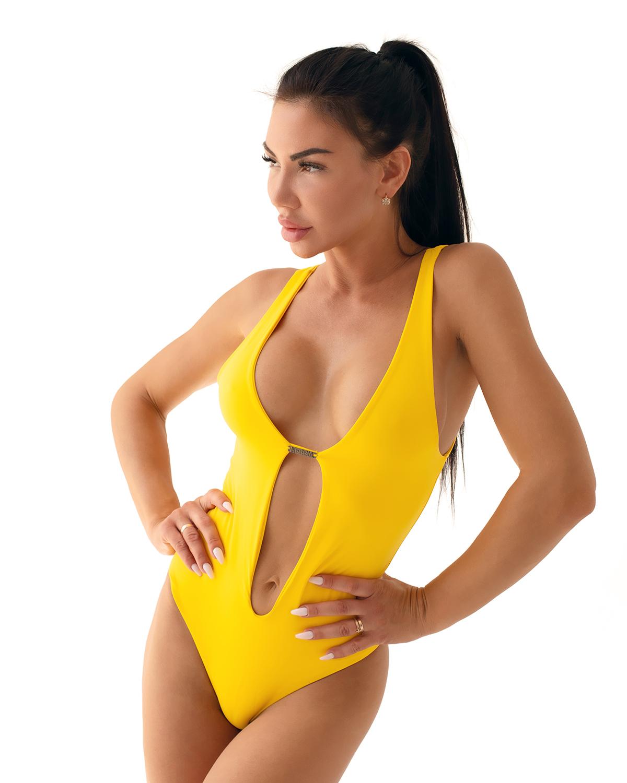 Купальник слитный Nebbia One-colour monokini 560 yellow
