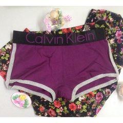 Женские трусы боксеры с лампасами фиолетовые Calvin Klein Women Violet