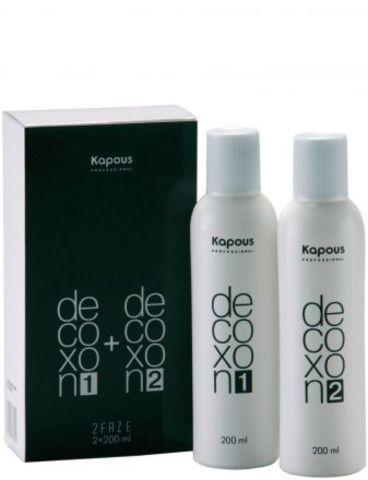 Средство для снятия косметического цвета с волос Decoxon 2Faze, Kapous,200мл + 200мл