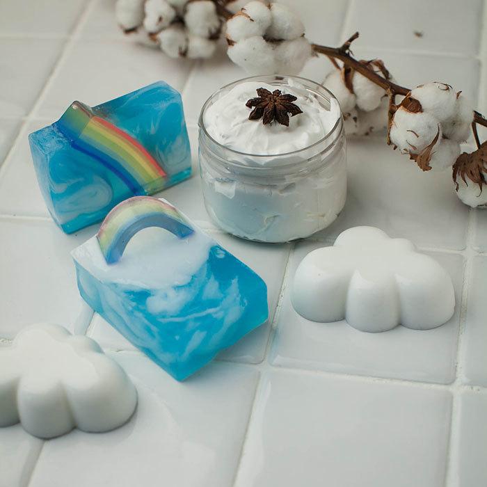 Пластиковая форма для мыловарения Облако