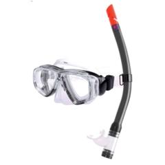 Junior Combo set w/ PVC mask & PVC snorkel, black
