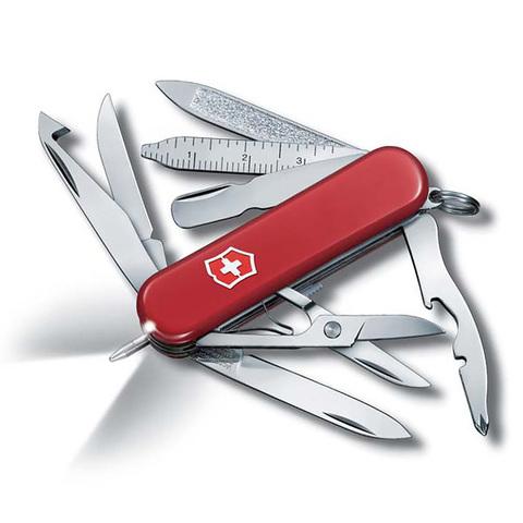 Нож-брелок Victorinox Classic Midnight MiniChamp, 58 мм, 17 функций, красный123