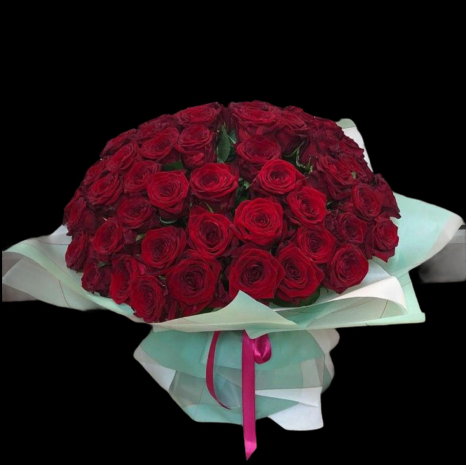 Букет 51 Роза 50 см (Б-130)