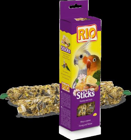 RIO - Палочки для средних попугаев с медом и орехами