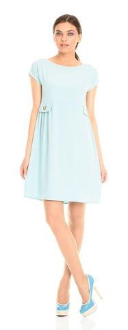 Фото короткое платье с завышенной талией и вырезом лодочка - Платье З106-327 (1)