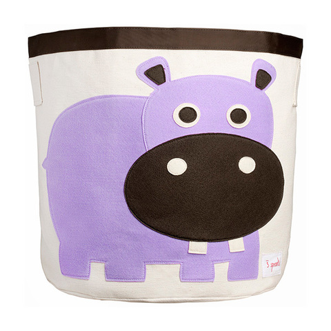 Корзина для хранения 3 Sprouts Бегемот (фиолетовый)