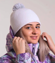 Шапка Nordski Knit White