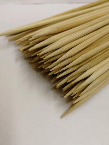 Деревянные шпажки (размер: H25 см х d4 мм), упаковка 100шт.