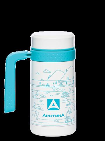 Термокружка автомобильная Арктика (412-500 автокружка-термос белая) 0,5 литра, белая