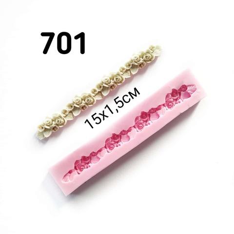 0701 Молд силиконовый. Полоска из роз