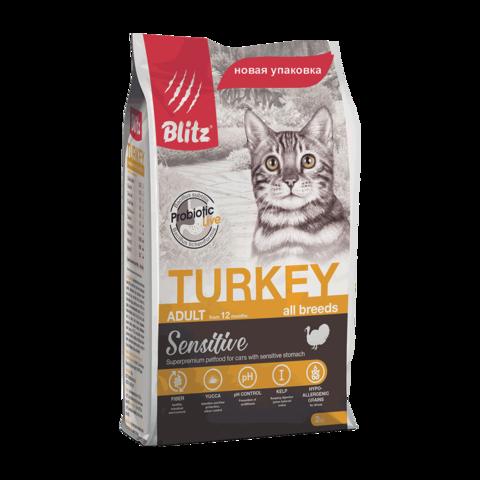 Blitz Сухой корм для кошек с индейкой