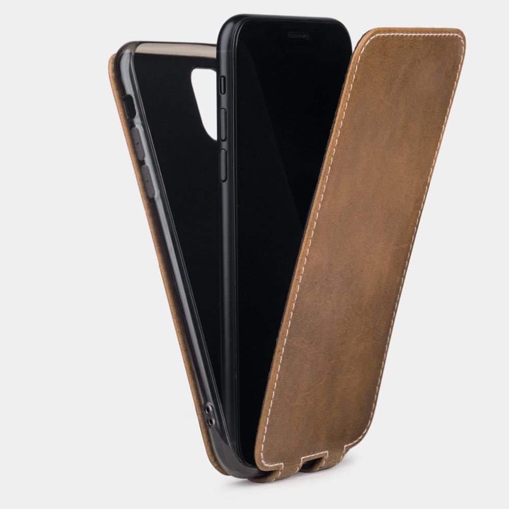 Чехол для iPhone 11 из натуральной кожи теленка, цвета винтаж