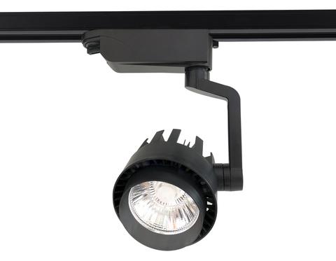Трековый однофазный светодиодный светильник GL6108 BK черный LED 20W 4200K 24°