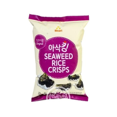 Чипсы рисовые с морской капустой оригинальные 30гр Humanwell Корея