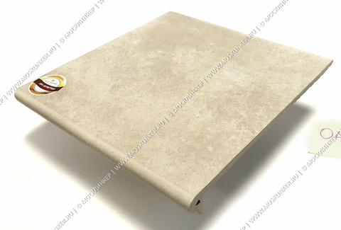 Interbau - Alpen, Bernardino/Кристальный песок 310x325x9, цвет 043 - Клинкерная ступень - флорентинер