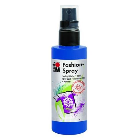 Краска-спрей для хлопка и льна Marabu-Fashion Spray 258 Ультрамарин