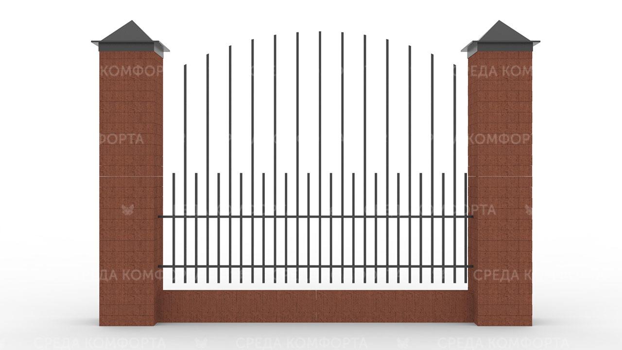Забор из профильной трубы ZBR0143